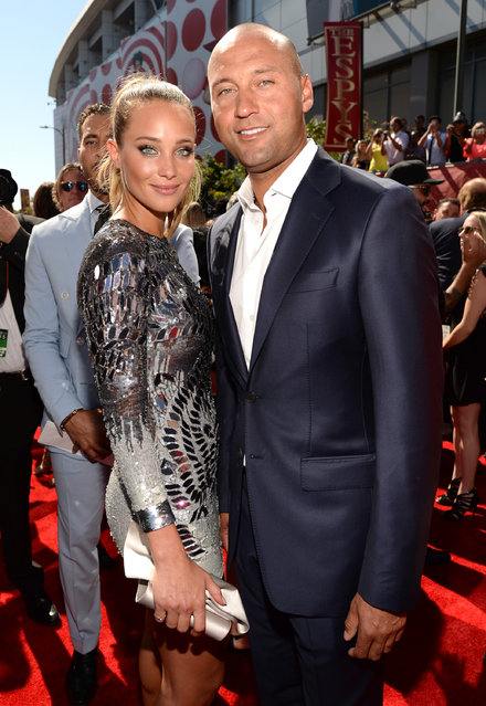 (L-R) Model Hannah Davis with former MLB player Derek Jeter attend The 2015 ESPYS at Microsoft Theater on July 15, 2015 in Los Angeles, California. (Photo by Kevin Mazur/WireImage)