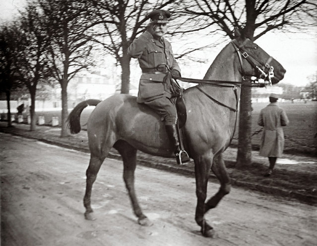An archive picture shows Field Marshall Douglas Haig riding a horse at an unknown location in France February 14, 1916. Haig was the British commander-in-chief during the Somme battle. (Photo by Collection Odette Carrez/Reuters)