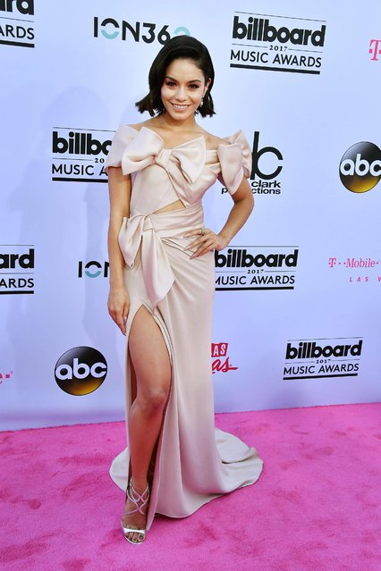 Actress Vanessa Hudgens arrives at 2017 Billboard Music Awards at T-Mobile Arena on May 21, 2017 in Las Vegas, Nevada. (Photo by Allen Berezovsky/Getty Images)