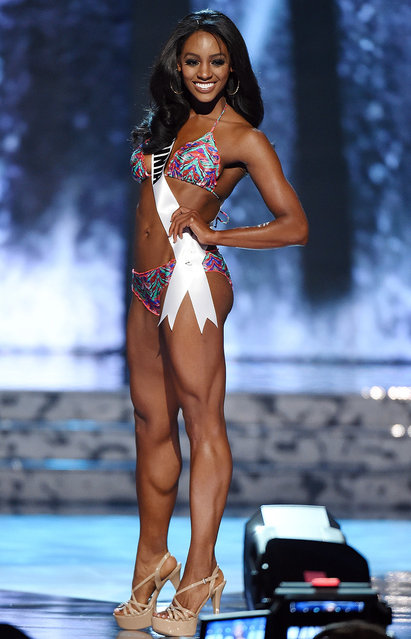 Miss Virginia USA Desi Williams competes in the swimsuit competition during the 2016 Miss USA pageant preliminary competition at T-Mobile Arena on June 1, 2016 in Las Vegas, Nevada. (Photo by Ethan Miller/Getty Images)