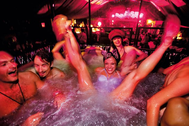 Spa in Slumbarave's Hotel Metropolis, Shangri-La, Glastonbury, 2009. (Photo by Barry Lewis/The Guardian)