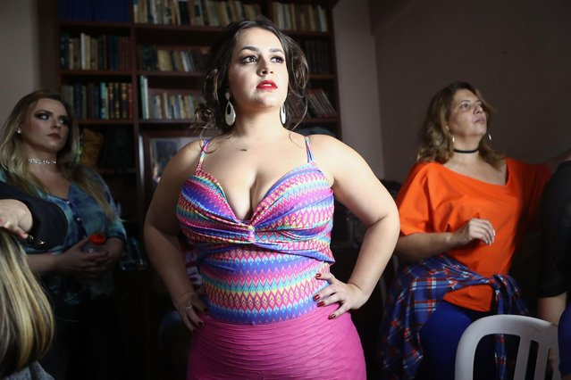 Contestants prepare to compete during the Miss Plus Size Carioca beauty pageant on July 8, 2017 in Rio de Janeiro, Brazil. (Photo by Mario Tama/Getty Images)