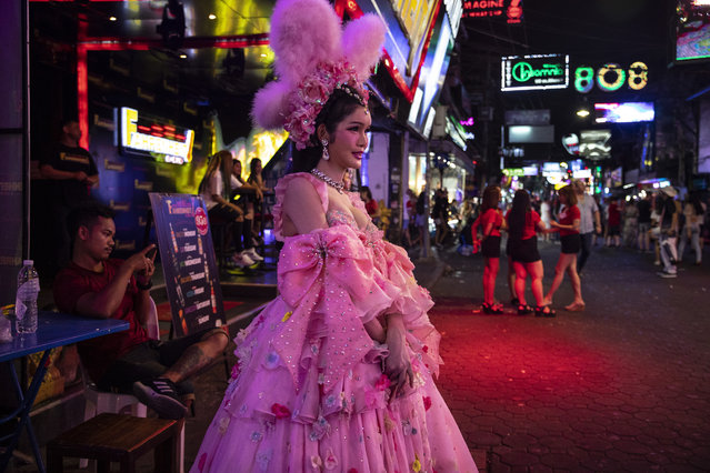 Scenes from the popular Walking Street normally packed with tourists filled with bars and restaurants in Pattaya, Thailand on March 10, 2020. Thailand depends on tourism, currently tourist arrivals have plunged more than 50% and are expected to continue for months ahead. According to the World Health Organization (WHO) in Thailand there has been 59 confirmed cases of Coronavirus ( COVID-19 ) with 6 new, only one death with around 1,903 persons under treatment. Latest information on the Novel Coronavirus has infected more than 118,000 people and killed close to 4,300. (Photo by Paula Bronstein/Getty Images)