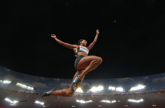 Malaika Mihambo of Germany competes in the women's long jump final during the 15th IAAF World Championships at the National Stadium in Beijing, China August 28, 2015. (Photo by Phil Noble/Reuters)