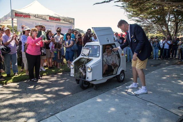 The winner of worst in show, the 1973 Acoma Mini Comtesse. A French-built, 2-hp microcar designed for people without licenses. (Photo by Robert Kerian/Yahoo Autos)
