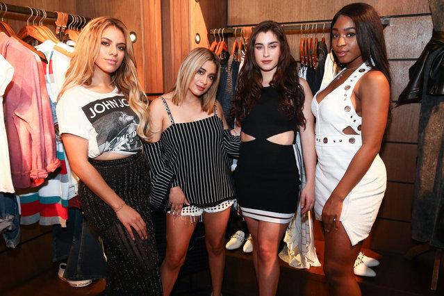 Photos October 3,2017  Pop stars Fifth Harmony appear at Sao Paulo denim store John John, Brazil on October 4, 2017. (Photo by Leo Marinho/Splash News and Pictures)