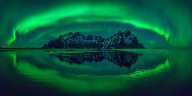 """Eye of Stokksnes"". This shot of Iceland won the Carolyn Mitchum award. (Photo by Wojciech Kruczynski/Epson International Pano Awards 2017)"
