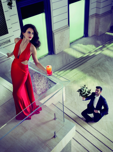 Eva Green poses for the month of September. (Photo by Julia Fullerton-Batten/Campari Calendar 2015)