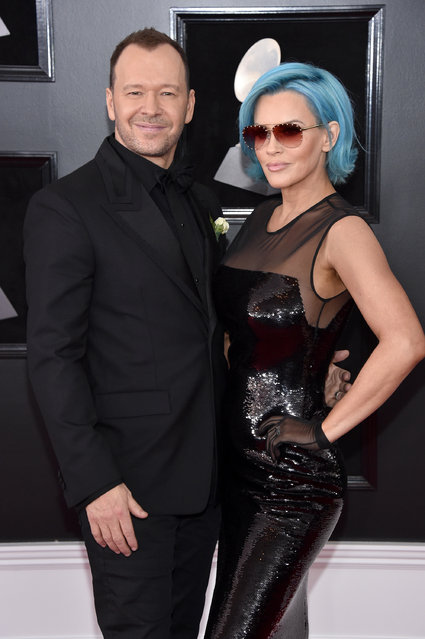 Actors Donny Wahlberg and Jenny McCarthy attend the 60th Annual GRAMMY Awards at Madison Square Garden on January 28, 2018 in New York City. (Photo by John Shearer/Getty Images)