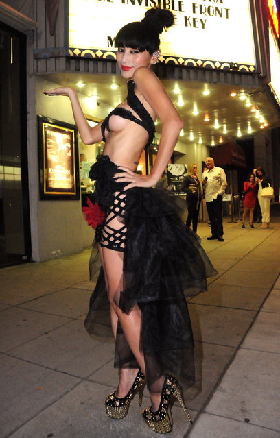 "Actress Bai Ling attends ""The Key"" screening at The Real Experimental Film Festival at Laemmle's Music Hall on November 21, 2014 in Beverly Hills, California.  (Photo by Barry King/WireImage)"