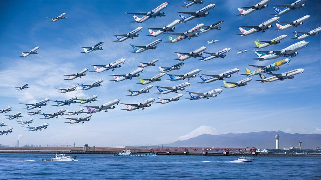 """The LA-based artist Mike Kelley took two years to make the """"Airportraits"""". (Photo by Mike Kelley/SWINS)"""