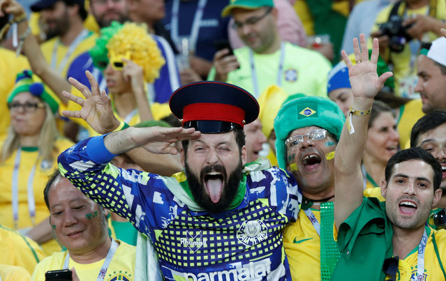 Brazil fan before the group E match between Serbia and Brazil, at the 2018 soccer World Cup in the Spartak Stadium in Moscow, Russia, Wednesday, June 27, 2018. (Photo by Grigory Dukor/Reuters)