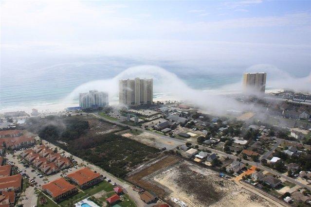 Tsunami Clouds: A Rush of Fog