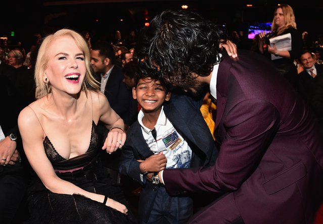 Actors Nicole Kidman, Sunny Pawar and Dev Patel attend the 6th Annual AACTA International Awards at Avalon Hollywood on January 6, 2017 in Los Angeles, California. (Photo by Alberto E. Rodriguez/Getty Images)