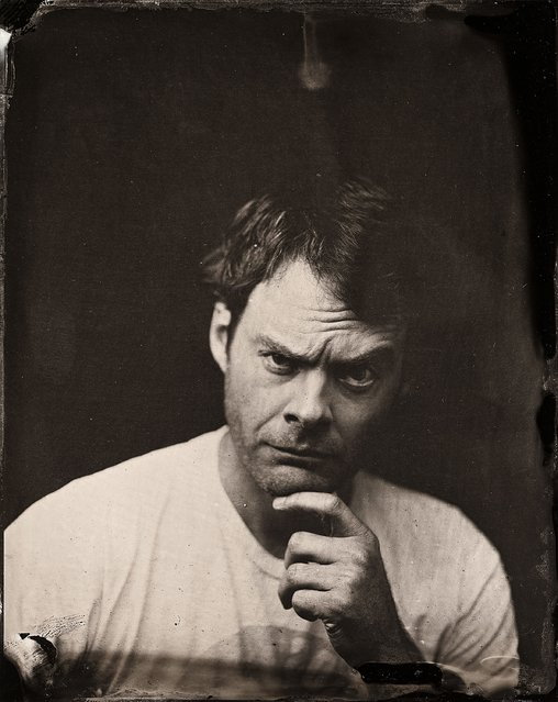 Bill Hader poses for a tintype (wet collodion) portrait at The Collective and Gibson Lounge Powered by CEG, during the 2014 Sundance Film Festival in Park City, Utah. (Photo by Victoria Will/AP Photo/Invision)