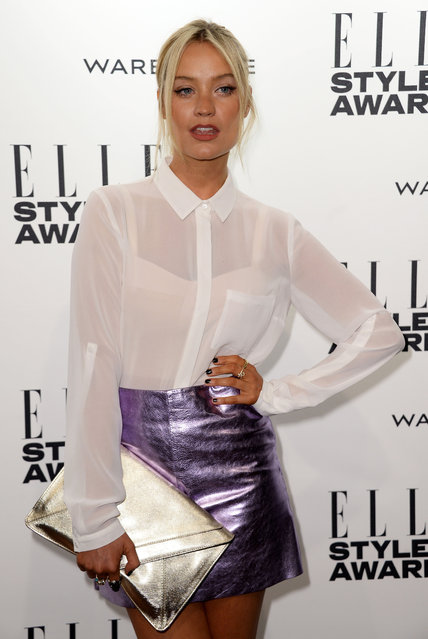 Laura Whitmore attends the Elle Style Awards 2014 at one Embankment on February 18, 2014 in London, England. (Photo by Ian Gavan/Getty Images)