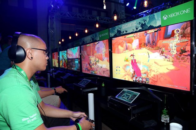 Excited fans get their hands on Gigantic at Xbox FanFest: E3 2015 in Los Angeles on Monday, June 15, 2015. (Photo by Matt Sayles/Invision for Microsoft/AP Images)