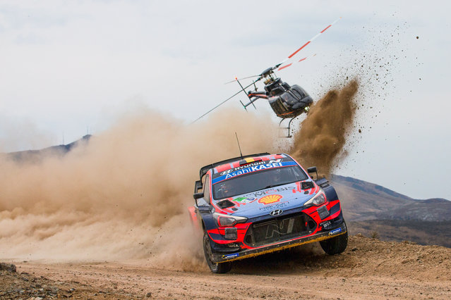 Thierry Neuville of Belgium drives his Hyundai i20 Coupe WRC during day 3 of Rally Mexico, in Leon, Guanajuato, Mexico, 14 March​ 2020. (Photo by Reporter Images/EPA/EFE)