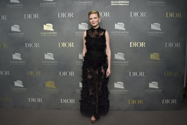 Actress Kirsten Dunst Actress attends the 2017 Guggenheim International Gala, hosted by Dior, at the Guggenheim Museum on Thursday, November 16, 2017, in New York. (Photo by Evan Agostini/Invision/AP Photo)