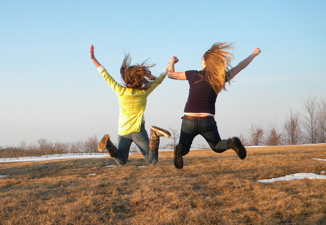 """Jumpology"". ""Best friends forever"". (Photo by Emily Cain)"