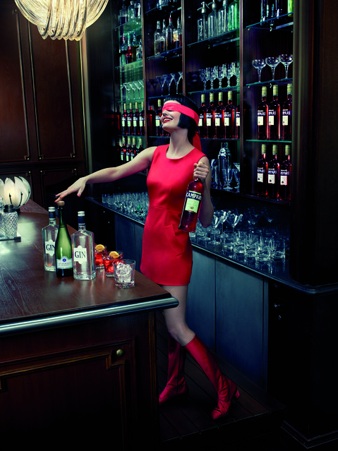 Eva Green poses for the month of October. (Photo by Julia Fullerton-Batten/Campari Calendar 2015)