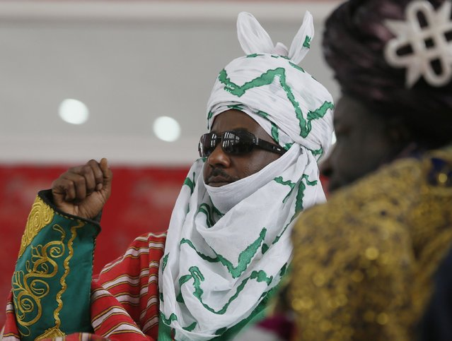 New Emir of Kano Muhamadu Sanusi II gestures during his coronation in Kano, Kano State, February 7, 2015. (Photo by Afolabi Sotunde/Reuters)