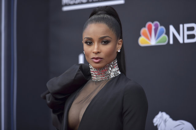 Ciara arrives at the Billboard Music Awards on Wednesday, May 1, 2019, at the MGM Grand Garden Arena in Las Vegas. (Photo by Richard Shotwell/Invision/AP Photo)