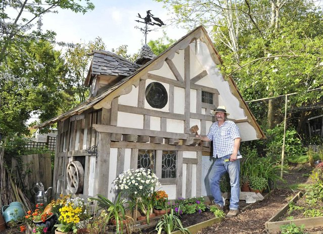 Old Garden Shed – owned by Brian in Hastings Upcycling pre-loved shed items, the Old Garden Shed is a nifty and obscure display set amongst a gorgeous garden and filled with workspace and vibrant 70s memorabilia. (Photo by Cuprinol/Rex Features/Shutterstock)