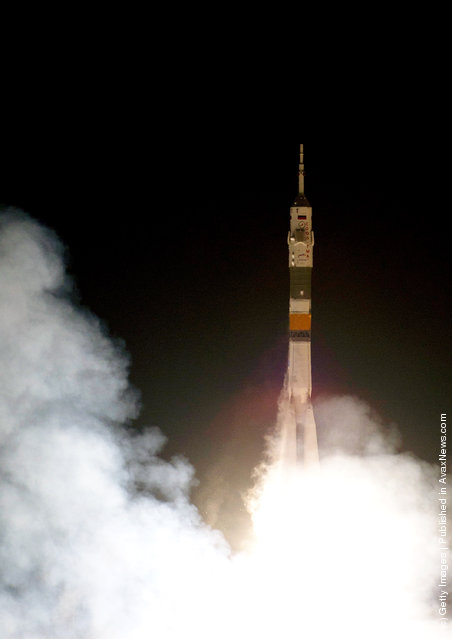 The Soyuz TMA-03M rocket launches on December 21, 2011 at Baikonur Cosmodrome in Kazakhstan