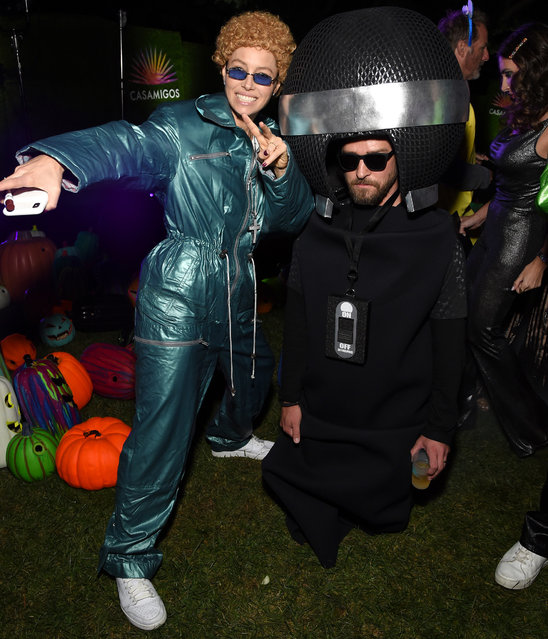 Jessica Biel and Justin Timberlake attend the 2019 Casamigos Halloween Party on October 25, 2019 at a private residence in Beverly Hills, California. (Photo by Michael Kovac/Getty Images for Casamigos)