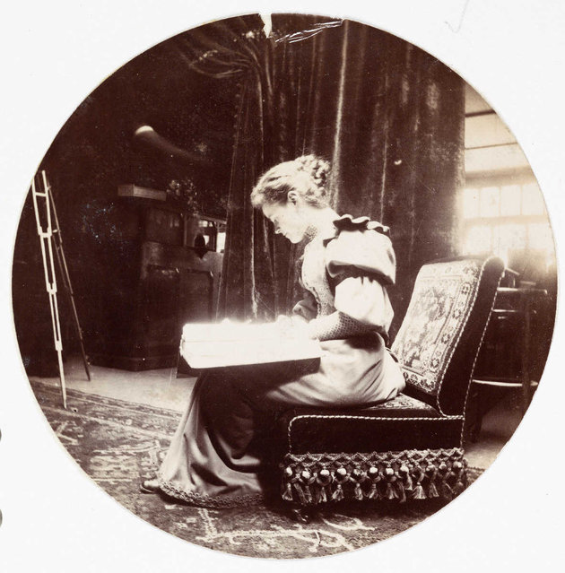 Woman reading, about 1890. (Photo by Collection of National Media Museum/Kodak Museum)