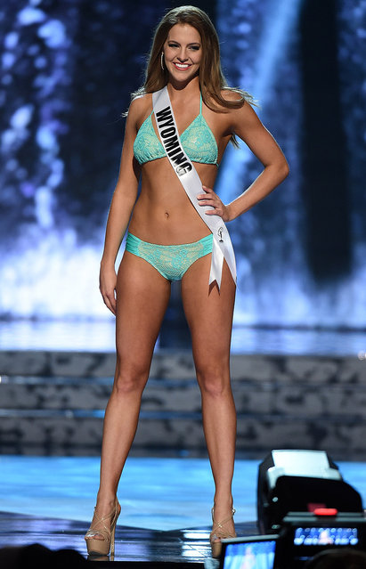 Miss Wyoming USA Autumn Olson competes in the swimsuit competition during the 2016 Miss USA pageant preliminary competition at T-Mobile Arena on June 1, 2016 in Las Vegas, Nevada. (Photo by Ethan Miller/Getty Images)