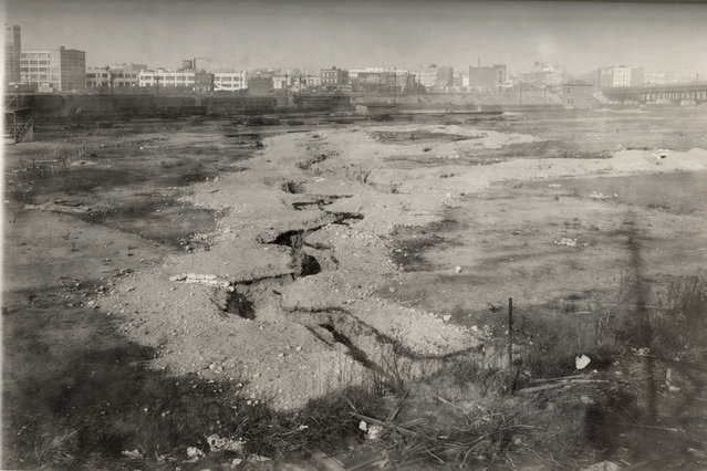 A view of a trench system set up in Long Island City as a field training facility in this 1919 handout picture. This picture is part of a previously unpublished set of World War One (WWI) images from a private collection. The pictures offer an unusual view of varied and contrasting aspects of the conflict, from high tech artillery to mobile pigeon lofts, and from officers partying in their headquarters to the grim reality of life and death in the trenches. The year 2014 marks the centenary of the start of the war. (Photo by Reuters/Archive of Modern Conflict London)