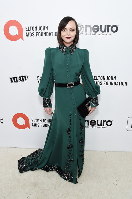 Christina Ricci attends the 28th Annual Elton John AIDS Foundation Academy Awards Viewing Party sponsored by IMDb, Neuro Drinks and Walmart on February 09, 2020 in West Hollywood, California. (Photo by Jamie McCarthy/Getty Images for EJAF)