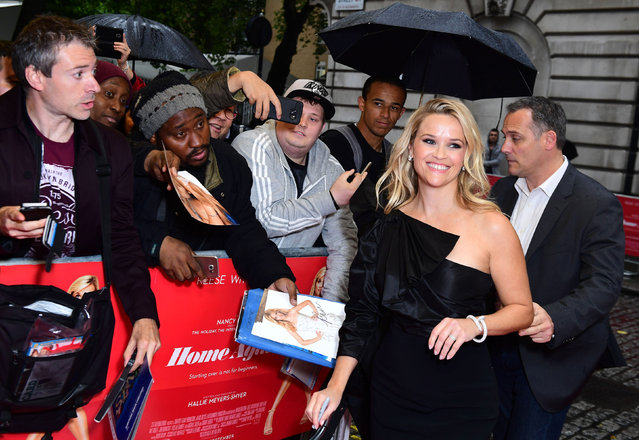 """Reese Witherspoon attends the """"Home Again"""" special screening at the Curzon Mayfair on September 21, 2017 in London, England. (Photo by Ian West/PA Wire)"""