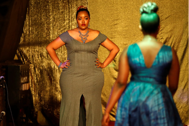 Models pose on the catwalk during a plus size fashion show in Nairobi, Kenya, October 7, 2017. (Photo by Baz Ratner/Reuters)