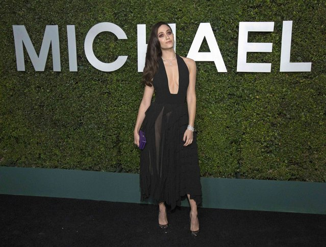 "Actress Emmy Rossum poses at a launch dinner for Claiborne Swanson Frank's photo book ""Young Hollywood"" with a foreword by fashion designer Michael Kors in Beverly Hills, California October 2, 2014. (Photo by Mario Anzuoni/Reuters)"