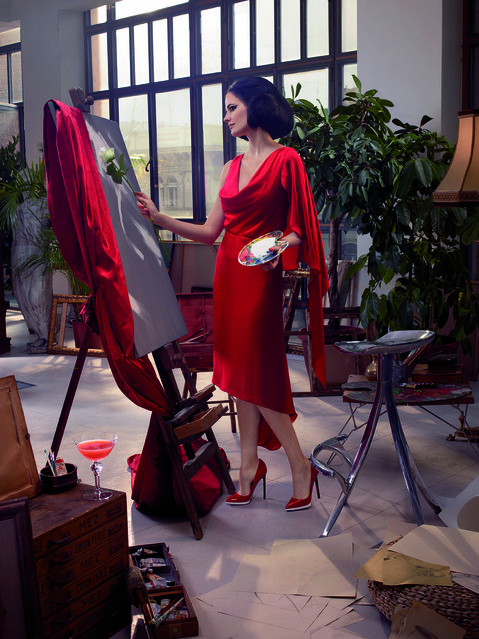 Eva Green poses for the month of November. (Photo by Julia Fullerton-Batten/Campari Calendar 2015)