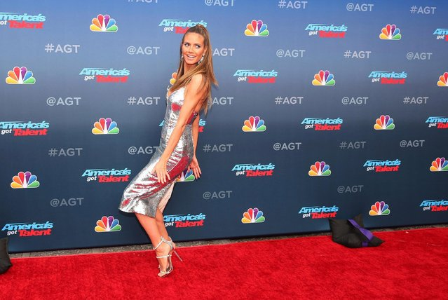 """Heidi Klum attends the red carpet kickoff for """"America's Got Talent"""" season 13 at Pasadena Civic Auditorium on March 12, 2018 in Pasadena, California. (Photo by Christopher Polk/Getty Images)"""