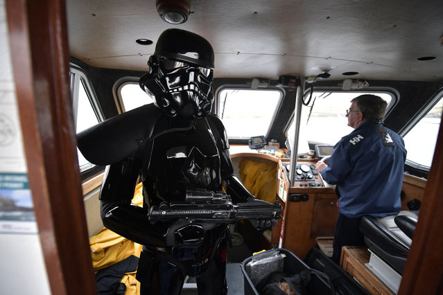 A Death Trooper from the 501st Ireland Legion surveys the Skelligs on May 4, 2018 in Portmagee, Ireland. (Photo by Charles McQuillan/Getty Images)