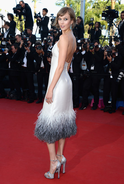 "Model Karlie Kloss attends the Premiere of ""The Immigrant"" at The 66th Annual Cannes Film Festival at Palais des Festivals on May 24, 2013 in Cannes, France. (Photo by Venturelli/WireImage)"