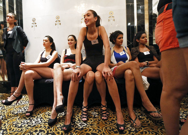 Models wait for their turn to be judged during auditions for the upcoming Lakme Fashion Week in Mumbai February 12, 2015. (Photo by Shailesh Andrade/Reuters)