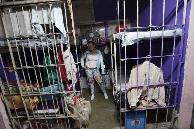 A female inmate is seen inside her cell in the Topo Chico prison during a media tour in Monterrey, Mexico, February 17, 2016. (Photo by Daniel Becerril/Reuters)