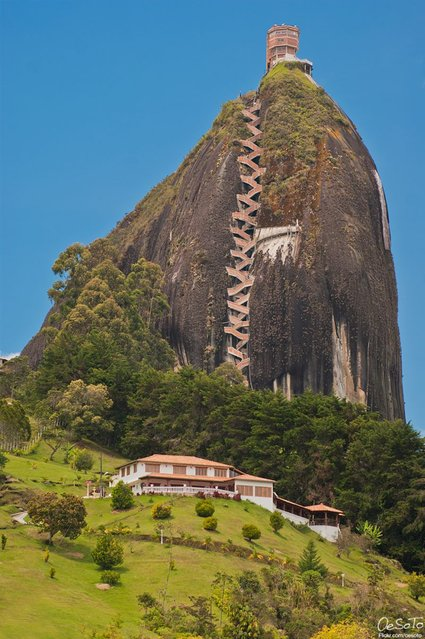 Guatape Rock In Colombia