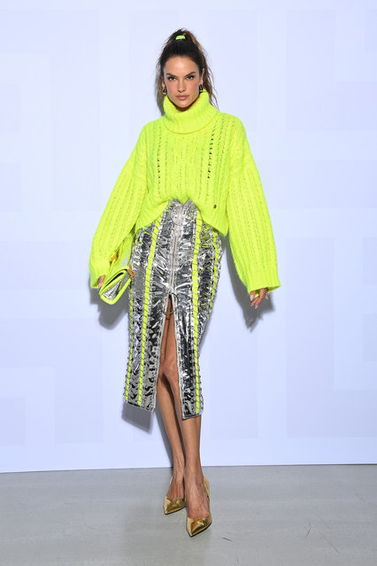Brazilian-American model Alessandra Ambrosio attends the Balmain Festival as part of Paris Fashion Week Womenswear Spring/Summer 2022 at La Seine Musicale on September 29, 2021 in Boulogne-Billancourt, France. (Photo by Pascal Le Segretain/Getty Images For Balmain)