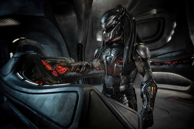 "This image released by Twentieth Century Fox shows a scene from the film, ""The Predator"". Twentieth Century Fox has cut a scene from the film featuring actor Steven Wilder Striegel after learning he is a registered s*x offender. Just hours before the film was to premiere at the Toronto International Film Festival on Thursday, a spokesperson for Fox said Striegel's single scene in the film was removed immediately after the studio learned of Striegel's background. (Photo by Kimberley French/Twentieth Century Fox via AP Photo)"