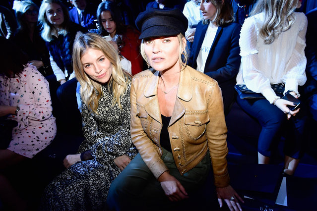 Sienna Miller (L) and Kate Moss attend the Christian Dior show as part of the Paris Fashion Week Womenswear Fall/Winter 2017/2018 on March 3, 2017 in Paris, France. (Photo by Victor Boyko/Getty Images for Dior)
