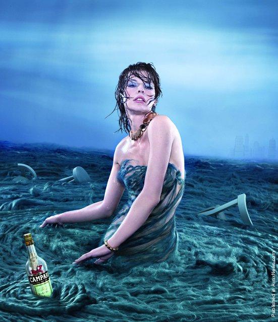 Milla Jovovich Campari Calendar 2012