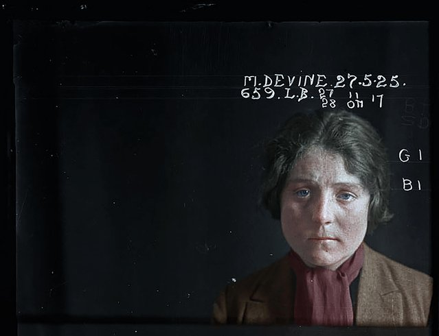 Matilda Devine, 27 May 1925, had 79 convictions for prostitution related offences including indecent language and offensive behaviour. (Photo by My Colorful Past/Mediadrumworld)