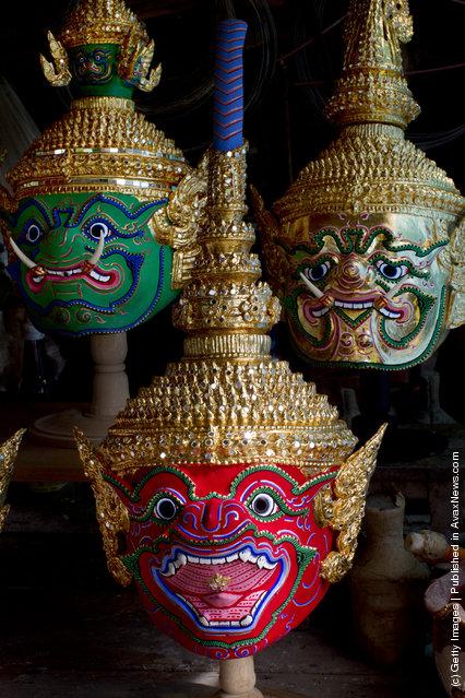 Traditional Thai Khon Masks